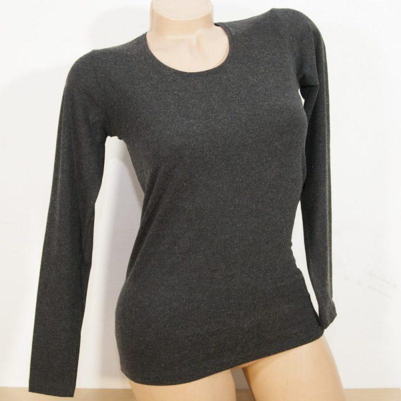 Дамска блуза с ангора, черен цвят