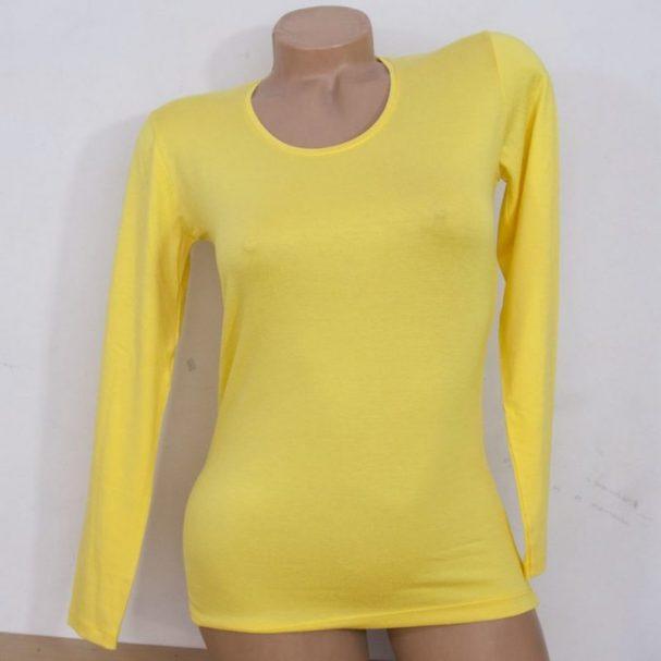 Дамска блуза жълт цвят