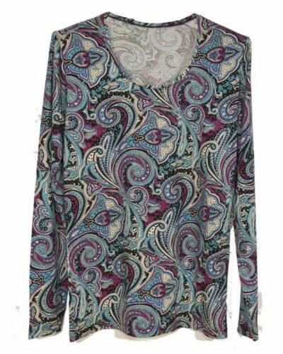 Блуза с кашмирен десен