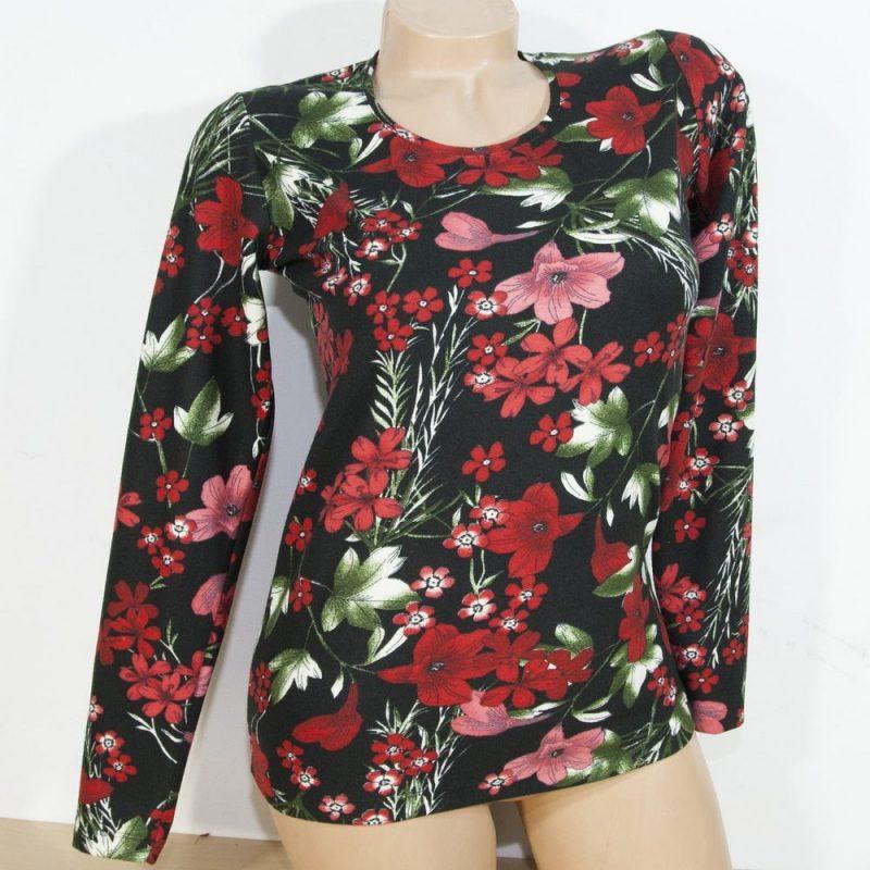 Дамска блуза с флорален десен