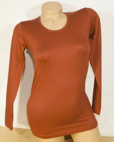 Дамска блуза, цвят керемиден цвят