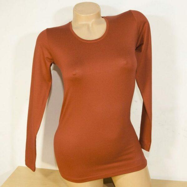 Дамска блуза цвят керемиден цвят