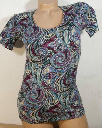 Блуза с кашмирен десен в тюткоаз