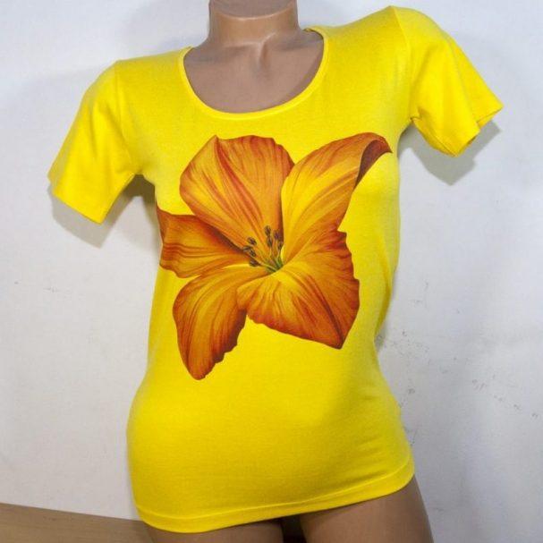 Блуза жълта с лотус