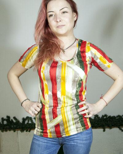 Блуза с къс ръкав Слънчева Африка