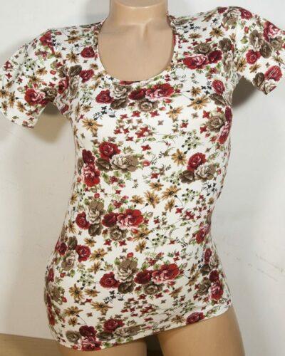 Дамска блуза с тъмно червени розички