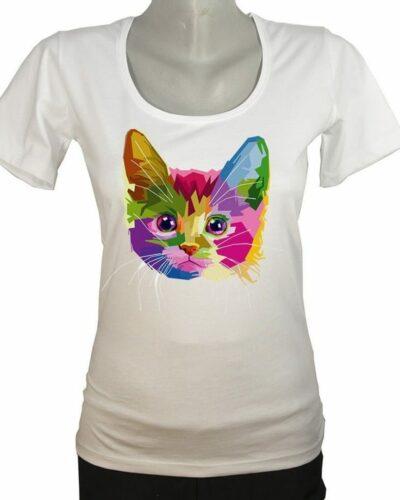 """Тениска """"Цветно коте"""""""