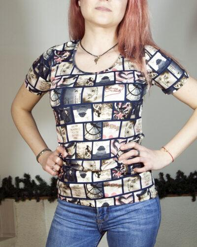 Блуза с къс ръкав Диана