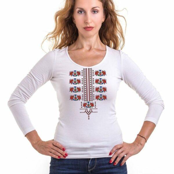 Блуза с българска шевица с дълъг ръкав