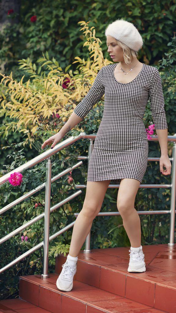 Дамска рокля с ангора Марго