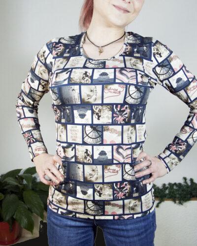Блуза с дълъг ръкав Диана