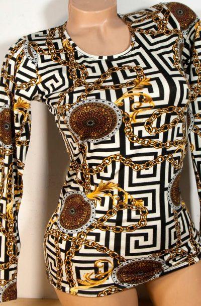Блуза с дълъг ръкав Версаче