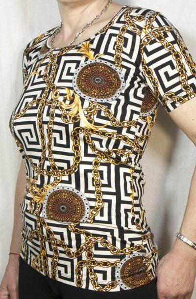 Блуза с къс ръкав Версаче