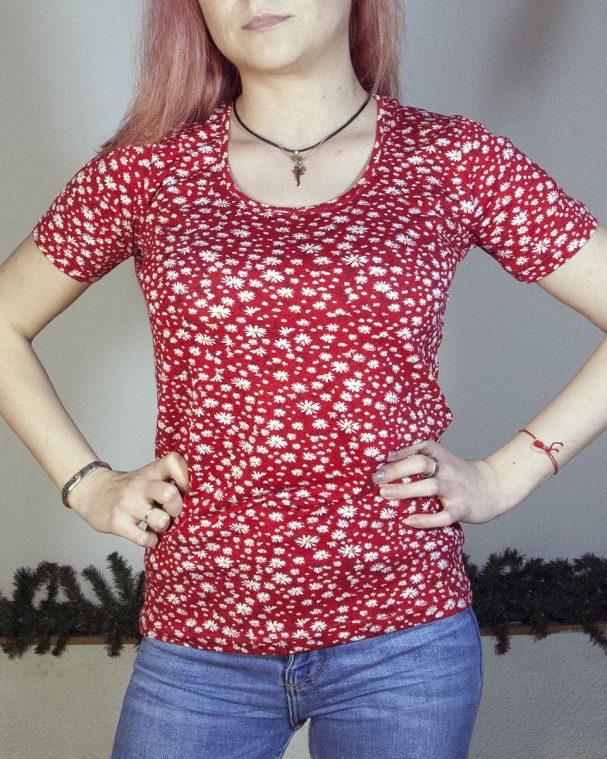 Блуза с къс ръкав Каролин