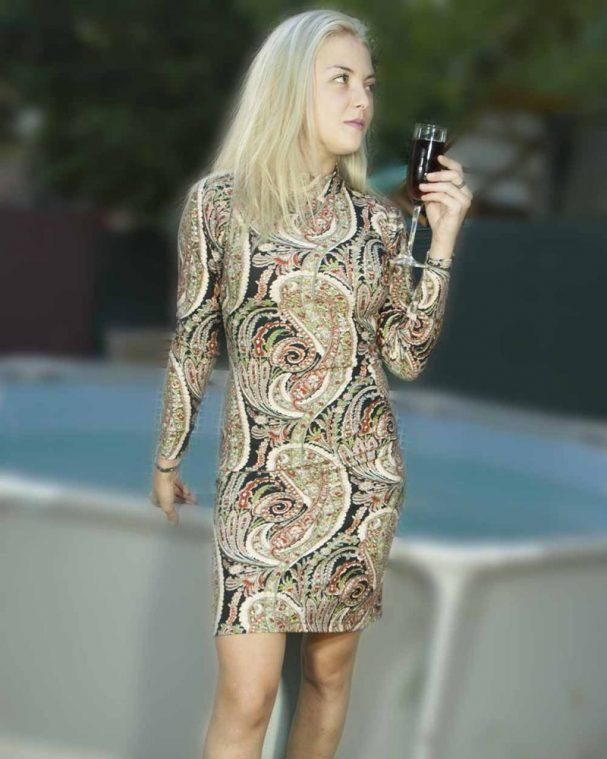Дамска рокля с ангора Хрисия