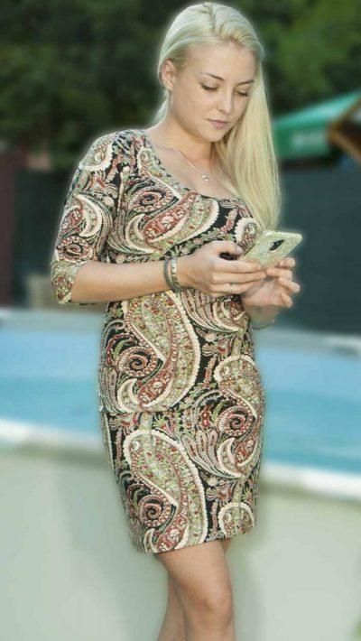 Дамска рокля с ангора Крис