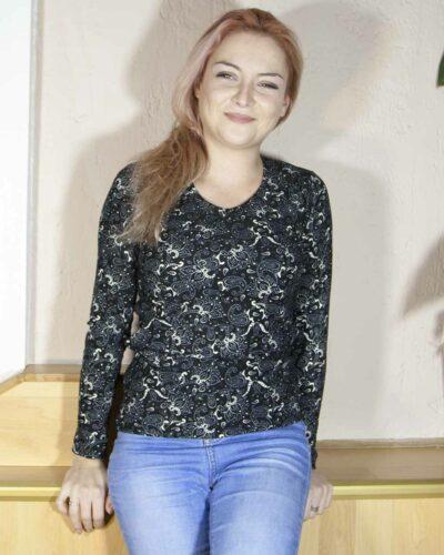 Блуза Карина с ангора