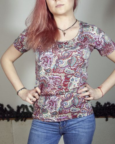 Блуза с къс ръкав Аурелия