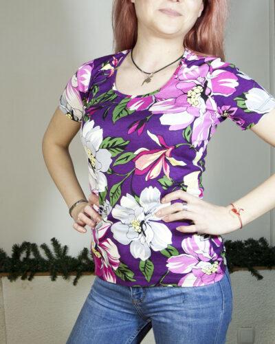 Блуза с къс ръкав Розалинда