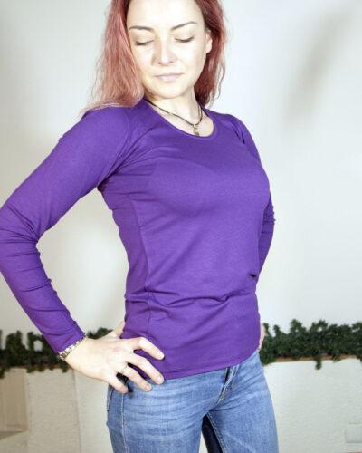 Блуза тъмно лилав цвят