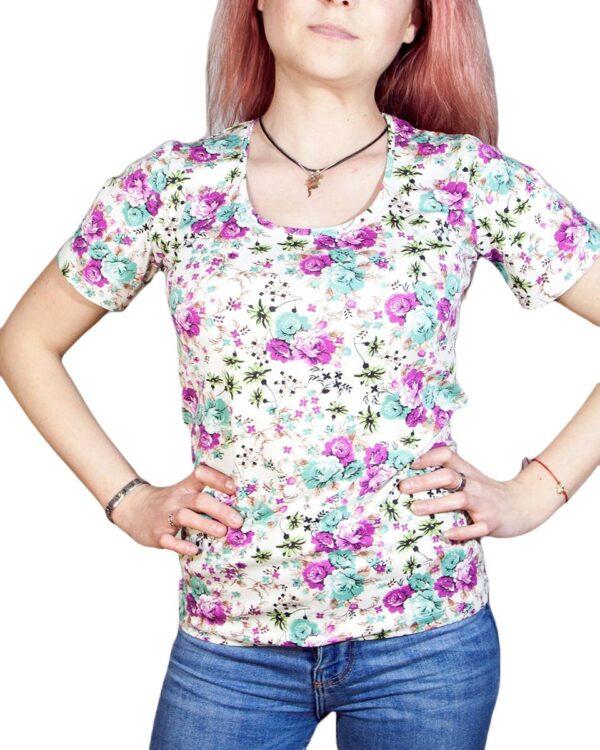 Блуза с къс ръкав Хенриета