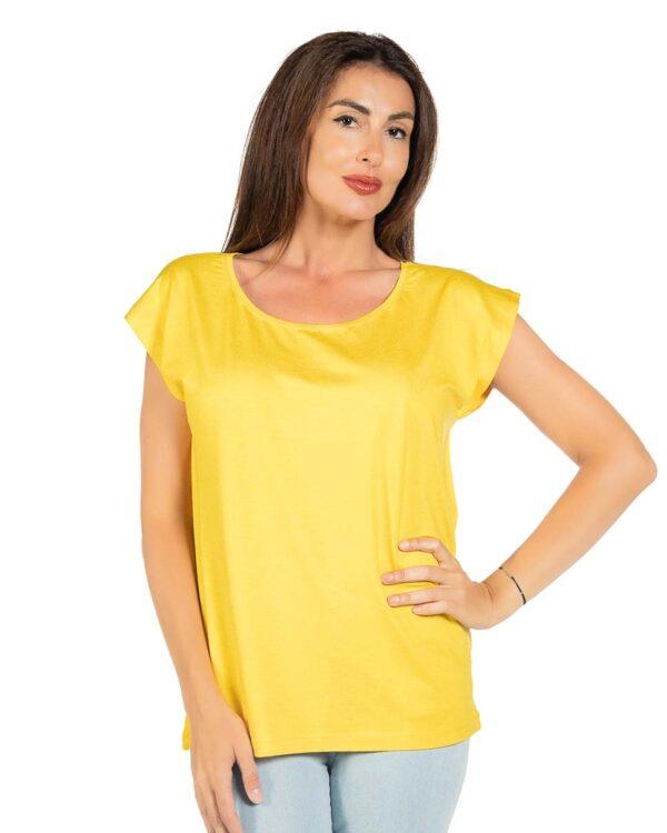 Свободна блуза жълт цвят
