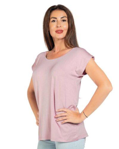 Свободна блуза цвят пепел от рози