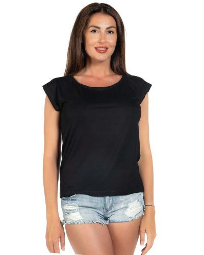 Свободна блуза черен цвят