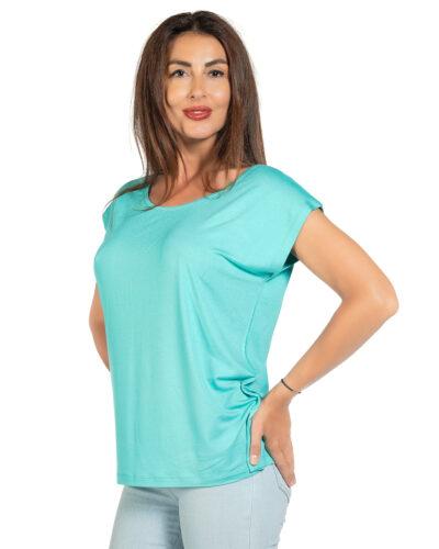 Свободна блуза ментов цвят