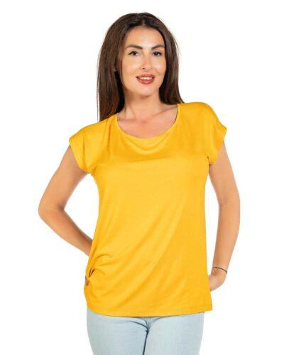 Свободна блуза цвят горчица