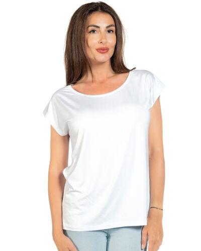 Свободна блуза бял цвят