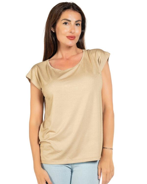 Свободна блуза бежов цвят