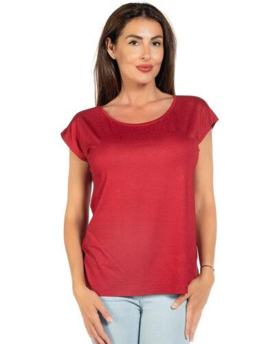 Свободна блуза цвят бордо